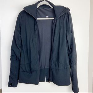 Lululemon Black Reversible LUON/MESH JACKET SIZE 6